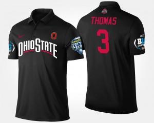 Ohio State Buckeyes Michael Thomas Polo Black Big Ten Conference Cotton Bowl Bowl Game Men's #3