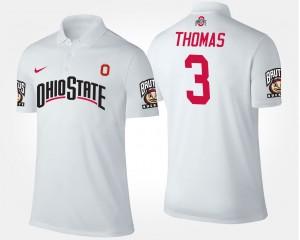 Ohio State Buckeyes Michael Thomas Polo #3 White For Men's