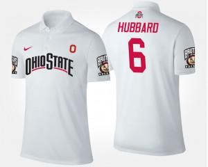 Ohio State Buckeyes Sam Hubbard Polo #6 Men White