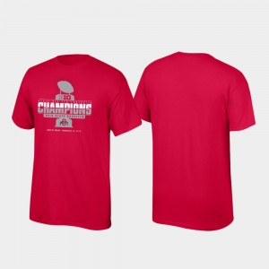 Ohio State Buckeyes T-Shirt Locker Room 2019 Big Ten Football Champions Scarlet Men's