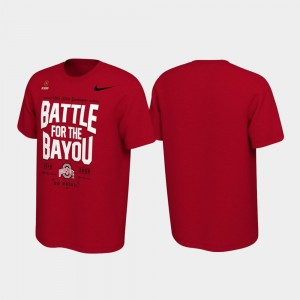 Ohio State Buckeyes T-Shirt Men's 2019 College Football Playoff Bound Battle For The Bayou Scarlet