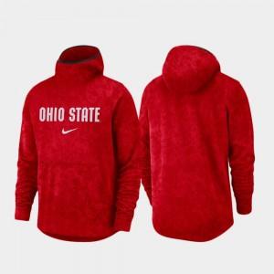 Ohio State Buckeyes Hoodie Basketball Team Logo Pullover Spotlight Scarlet For Men's