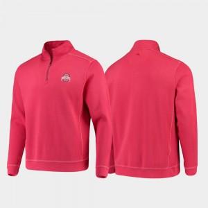 Ohio State Buckeyes Jacket Scarlet College Sport Nassau Half-Zip Pullover Tommy Bahama Men