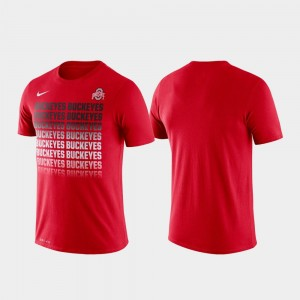 Ohio State Buckeyes T-Shirt Scarlet Fade Performance For Men's
