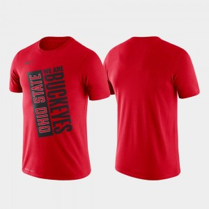 Ohio State Buckeyes T-Shirt Basketball Performance Mens Just Do It Scarlet