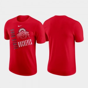 Ohio State Buckeyes T-Shirt Scarlet Performance Cotton For Men Just Do It
