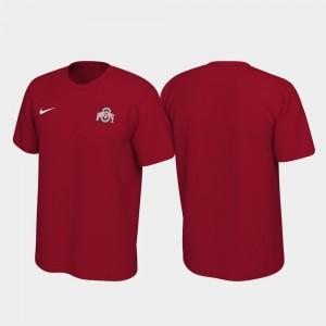 Ohio State Buckeyes T-Shirt For Men Legend Scarlet Left Chest Logo