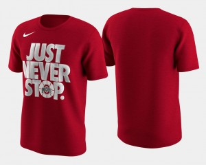 Ohio State Buckeyes T-Shirt Men Scarlet March Madness Selection Sunday Basketball Tournament Just Never Stop
