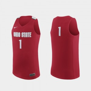 Ohio State Buckeyes Jersey Replica Scarlet #1 College Basketball For Men's