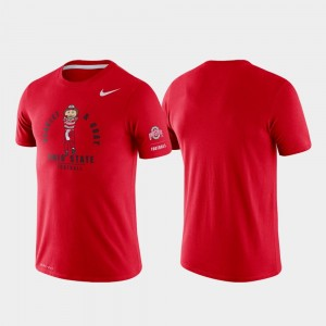 Ohio State Buckeyes T-Shirt For Men Scarlet Rivalry Tri-Blend Performance