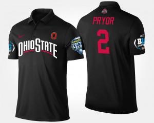 Ohio State Buckeyes Terrelle Pryor Polo Black Big Ten Conference Cotton Bowl #2 Mens Bowl Game