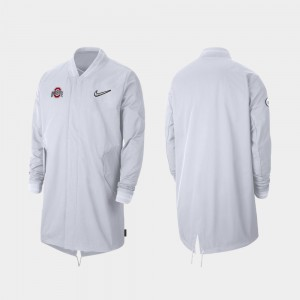 Ohio State Buckeyes Jacket White 2019 College Football Playoff Bound Sideline Full-Zip For Men's