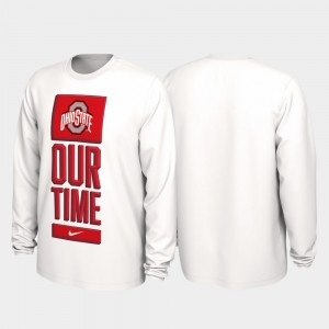 Ohio State Buckeyes T-Shirt Mens 2020 March Madness Our Time Bench Legend White