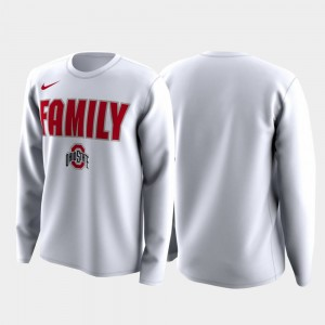 Ohio State Buckeyes T-Shirt March Madness Legend Basketball Long Sleeve White Family on Court Men's