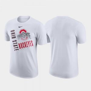 Ohio State Buckeyes T-Shirt Performance Cotton White Just Do It Men