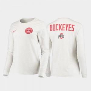 Ohio State Buckeyes T-Shirt Statement Long Sleeve Men's Rivalry White