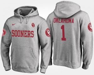 Oklahoma Sooners Hoodie For Men's No.1 Gray #1