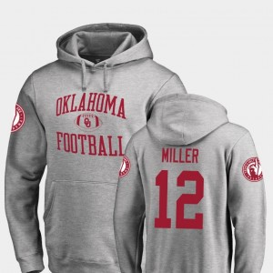 Oklahoma Sooners A.D. Miller Hoodie College Football #12 For Men Ash Neutral Zone