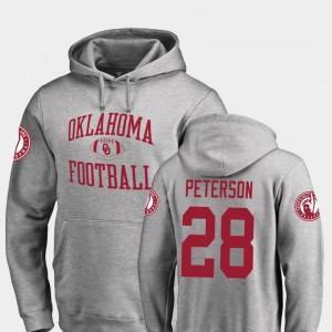 Oklahoma Sooners Adrian Peterson Hoodie Neutral Zone Ash Mens College Football #28