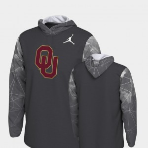 Oklahoma Sooners Hoodie 2018 College Football Playoff Bound Men Anthracite Team Issue
