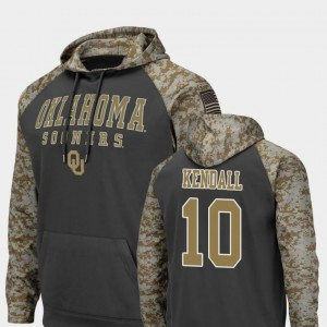 Oklahoma Sooners Austin Kendall Hoodie For Men's #10 Charcoal Colosseum Football United We Stand
