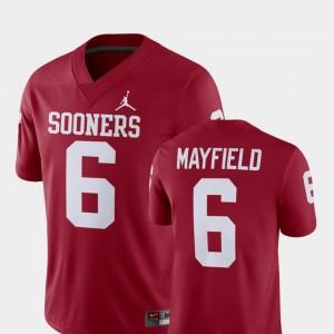 Oklahoma Sooners Baker Mayfield Jersey Men Player Alumni Football Game Crimson #6