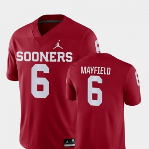 Oklahoma Sooners Baker Mayfield Jersey #6 Game Crimson Men's College Football