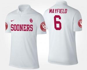 Oklahoma Sooners Baker Mayfield Polo White Men's #6