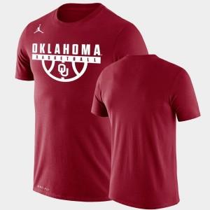 Oklahoma Sooners T-Shirt Crimson Drop Legend Performance Basketball For Men