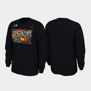 Oklahoma Sooners T-Shirt 2019 Peach Bowl Bound Mens Black Illustrations Long Sleeve