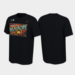 Oklahoma Sooners T-Shirt Men 2019 Peach Bowl Bound Illustrations Black