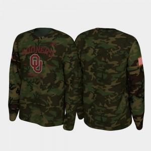 Oklahoma Sooners T-Shirt 2019 Veterans Day For Men's Legend Long Sleeve Camo