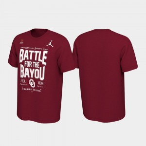 Oklahoma Sooners T-Shirt Crimson Men 2019 College Football Playoff Bound Battle For The Bayou