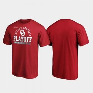 Oklahoma Sooners T-Shirt Men Crimson Safety 2019 College Football Playoff Bound