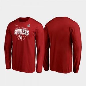 Oklahoma Sooners T-Shirt 2019 Peach Bowl Bound Crimson Men Primary Tackle Long Sleeve
