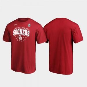 Oklahoma Sooners T-Shirt Men 2019 Peach Bowl Bound Crimson Primary Tackle