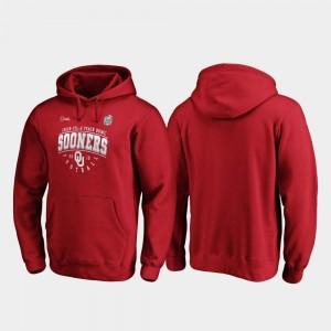 Oklahoma Sooners Hoodie Crimson Tackle 2019 Peach Bowl Bound Men