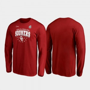 Oklahoma Sooners T-Shirt 2019 Peach Bowl Bound For Men's Tackle Long Sleeve Crimson