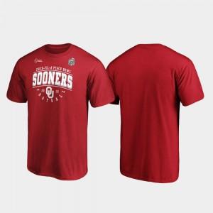 Oklahoma Sooners T-Shirt Crimson Tackle 2019 Peach Bowl Bound For Men's