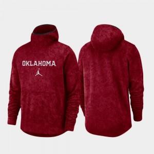 Oklahoma Sooners Hoodie Basketball Team Logo Pullover Spotlight For Men Crimson