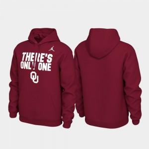 Oklahoma Sooners Hoodie Pullover Crimson Mens Local Phrase