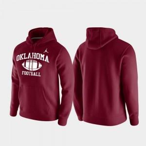 Oklahoma Sooners Hoodie Men Crimson Club Fleece Retro Football