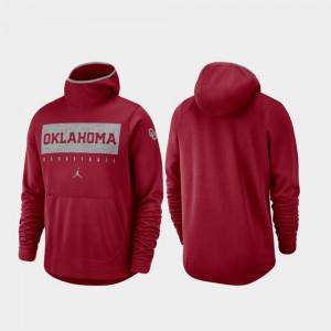 Oklahoma Sooners Hoodie Crimson Spotlight Basketball Men's