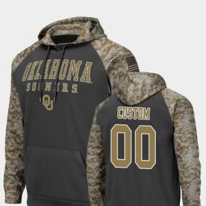 Oklahoma Sooners Custom Hoodies #00 Colosseum Football Charcoal Mens United We Stand