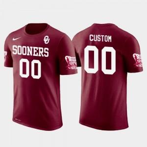 Oklahoma Sooners Customized T-Shirts Crimson Cotton Football Men Future Stars #00