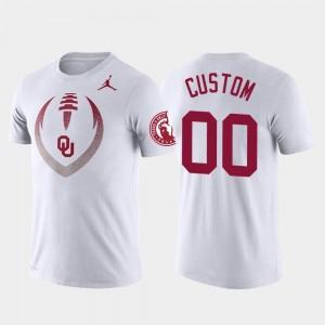 Oklahoma Sooners Customized T-Shirts Mens Football Icon White #00 Performance