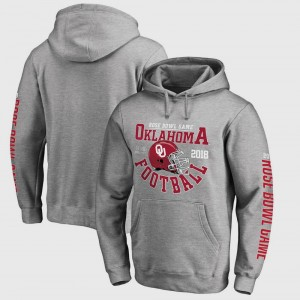 Oklahoma Sooners Hoodie Gray Mens Bowl Game College Football Playoff 2018 Rose Bowl Bound Down