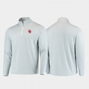 Oklahoma Sooners Jacket For Men's Gray Gameday Quarter-Zip Performance