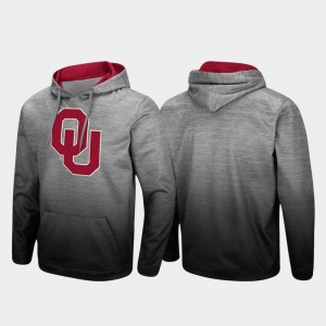 Oklahoma Sooners Hoodie Heathered Gray Sitwell Sublimated Pullover Men