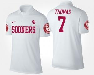 Oklahoma Sooners Jordan Thomas Polo Men #7 White